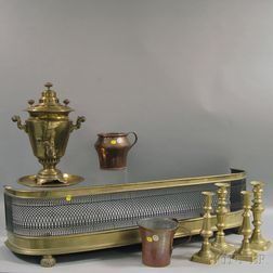 Nine Brass and Copper Items