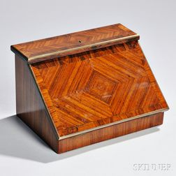 French Satinwood and Gilt-metal Lap Desk