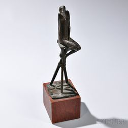 Marianna Pineda (1925-1996) Seated Oracle Sculpture