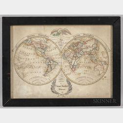 Schoolgirl Watercolor Map of the World