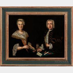 German School, 18th Century      Portrait of Philipp Ludwig Finckh and Sophie Magdalene Godelmann