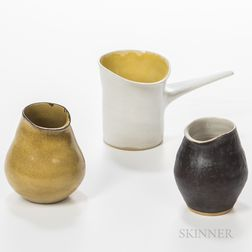 Three Pieces of Dame Lucie Rie (Austrian/British, 1902-1995) Studio Pottery