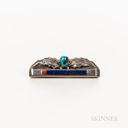 Contemporary Southwest Whirling Wind Silver Brooch