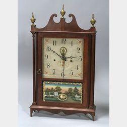 Federal Mahogany Pillar and Scroll Clock
