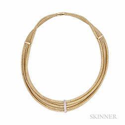 "18kt Gold and Diamond ""Primavera"" Necklace, Roberto Coin"