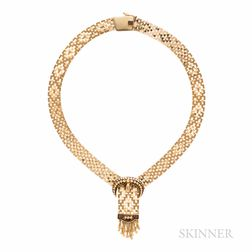 14kt Gold Buckle Necklace
