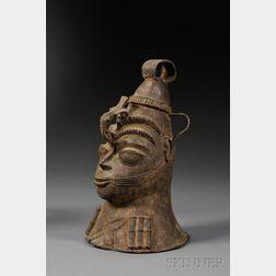 Benin Cast Metal Bell