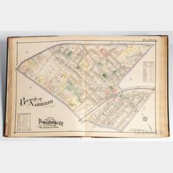 Pennsylvania. Ellis Kiser; J.M. Lathrop; and Milton R. Yerkes. Atlas of Properties on Main Line Pennsylvania Road from Overbrook to Pao