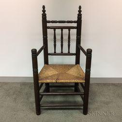 Pilgrim Century-style Turned Maple Great Chair
