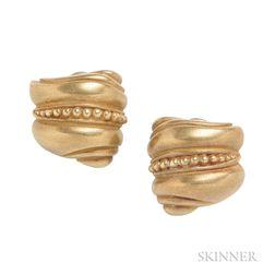 18kt Gold Earrings, Kieselstein-Cord