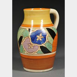 Clarice Cliff Fantasque Gardenia Pattern Single-handled Lotus Jug