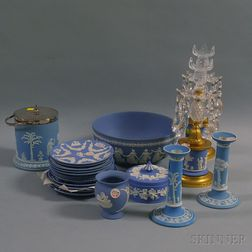 Twenty Wedgwood Light Blue Jasper Items