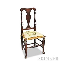 Queen Anne Maple Yoke-back Side Chair