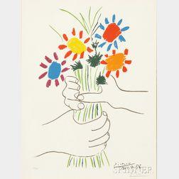 After Pablo Picasso (Spanish, 1881-1973)      Peace (Le bouquet)