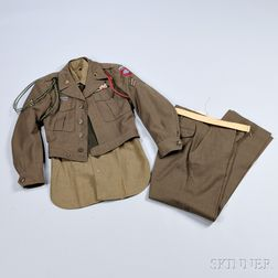 Eisenhower Jacket, Trousers, Shirt, and Other Items Related to Corporal Robert Bossert, 82nd Airborne Division