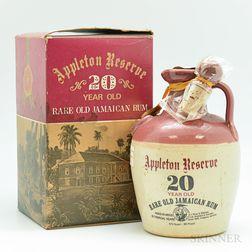 Appleton Reserve 20 Years Old, 1 4/5 quart bottle
