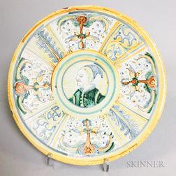 Italian Majolica Ceramic Plate