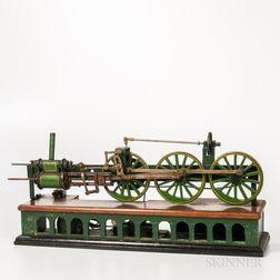 Electrified Horizontal Bench-made Stationary Engine