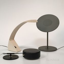 """Marco Zotta for Cil Roma """"Arcobaleno"""" Desk Lamp, Atelje Lyktan for Ahus Shelf Lamp, and """"Circa"""" Table Lamp by Pablo Designs"""