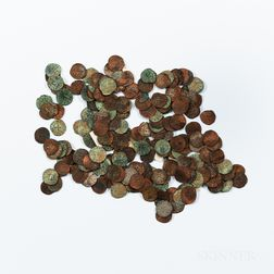 Approximately 209 Crusader States Hammered Coins.     Estimate $200-300