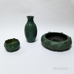 Three Pieces of Hampshire Pottery