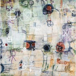 Ragellah Rourke Tabs, Springs, and Lockets II   Mixed Media Work and Two Tiles