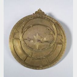 Brass Single-Plate Indian Astrolabe