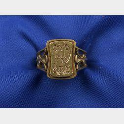 18kt Gold Art Nouveau Ring