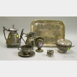 Seven Pieces of  Victorian Silver Plated Tableware