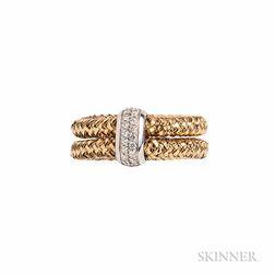 "18kt Gold and Diamond ""Primavera"" Ring, Roberto Coin"