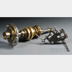 Brass and Steel Mandrel and a Cast Iron and Steel Bench Vise