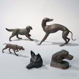 Five Animalier Figures