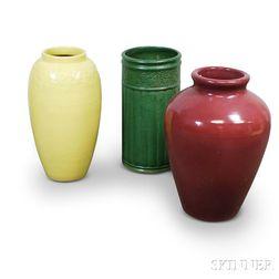 Three Large Pottery Floor Vases