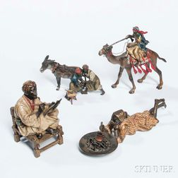 Four Austrian Cold-painted Bronze Figures