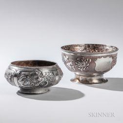 Two Chinese Export Silver Bowls