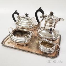 Five-piece Silver-plated Tea Set