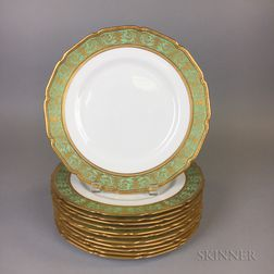 Set of Twelve Royal Doulton Porcelain Dinner Plates
