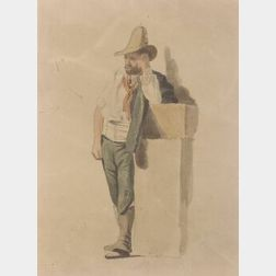 David Claypool Johnston (American, 1799-1865)  Theatrical Study