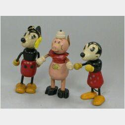 Three Disney Flexi-Toys