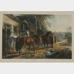 After John Frederick Herring, Sr. (British, 1795-1865)      Lot of Three Prints:  Morning, Noon