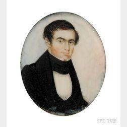 Portrait Miniature of a Gentleman Dressed in a Black Coat and Cravat