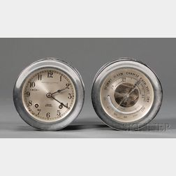 Chelsea Chrome Ship's Bell Clock and Barometer