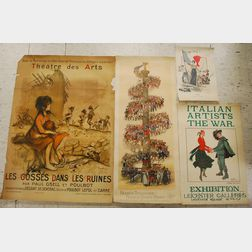 Four British and French WWI Era Lithograph Posters