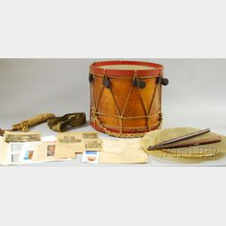 Ralph Eames Rope-tension Wood Marching Drum