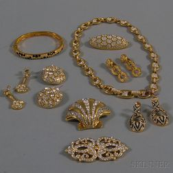 Small Group of Signed Swarovski Costume Jewelry