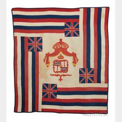 Hawaiian Ku'u Hae Aloha   or Flag Quilt