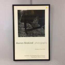 """Framed Aaron Siskind """"Homage to Franz Kline"""" Poster"""
