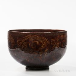 Edwin and Mary Scheier Studio Pottery Bowl