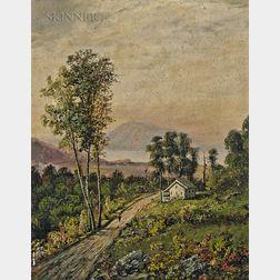 Henry Boese (American, 1824-1863)      Two Hudson River Landscapes: Scene near the Juniata