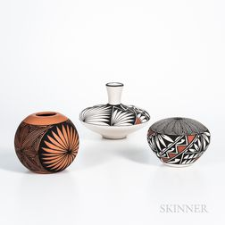Three Contemporary Southwest Pottery Jars